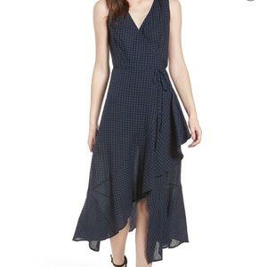 Nordstrom Lush Ruffle Plaid Maxi Dress (S)